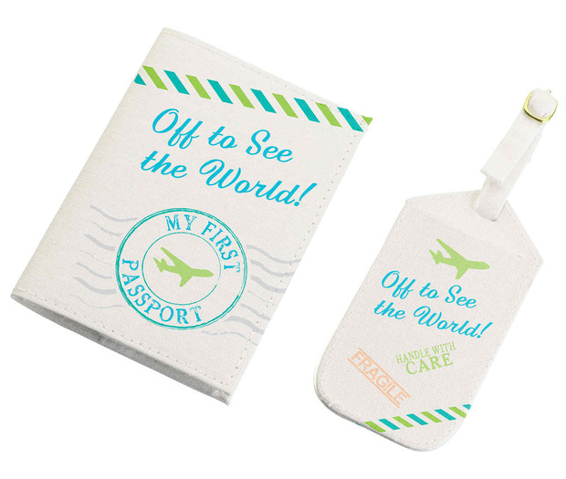 Lillian Rose Blue World Tag & Passport