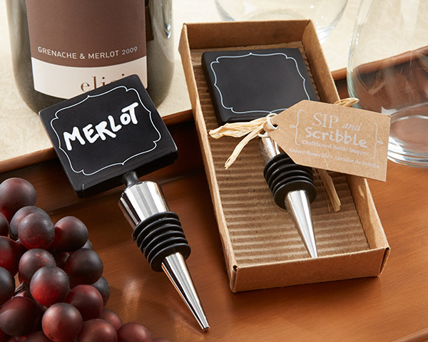 Sip & Scribble, Chalkboard Bottle Stopper
