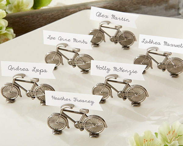 Le Tour, Bicycle Place Card/Photo Holder: Set of 6