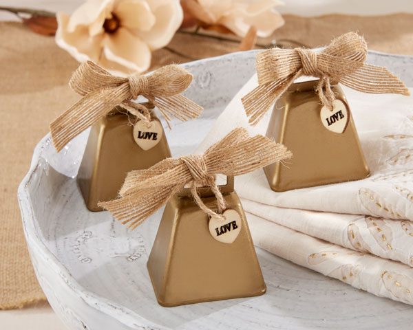 Country Charm Cowbell Kissing Bell: Set of 6