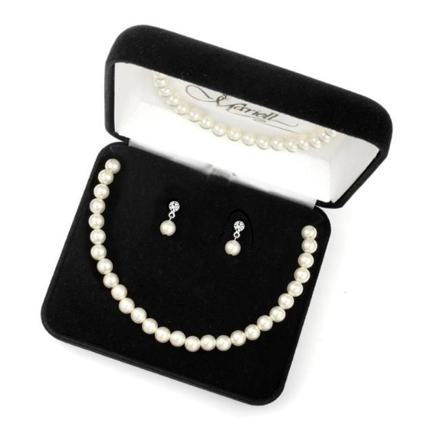 Mariell 3-Pc. Pearl Boxed Wedding Jewelry