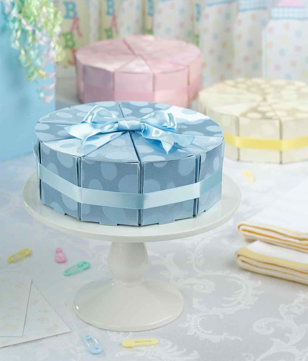 Lillian Rose Baby Cakes Favors-Blue: Set of 10