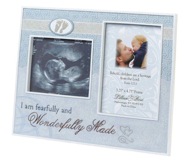 Lillian Rose Wonderfully Made Ultrasound Frame: Blue