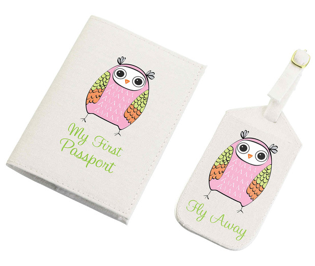 Lillian Rose Pink World Tag & Passport