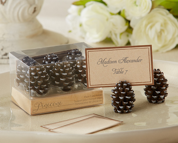 Pinecone Place Card, Photo Holders: Set of 6