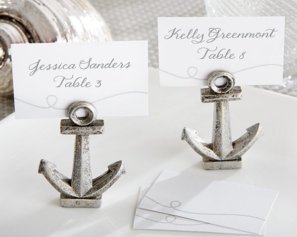 Nautical, Anchor Place Card/Photo Holder: Set of 6