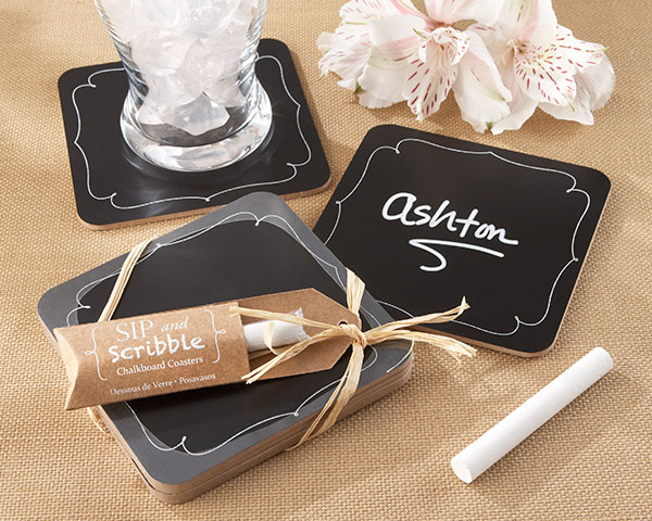 Sip and Scribble, Chalkboard Coasters