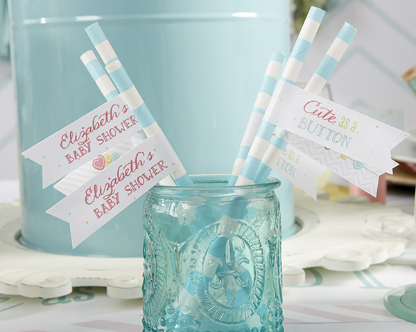 Kate's, Cute as a Button, Personalized Party Flags