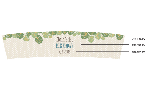 Personalized Frosted Glass Votive, Kate's King of The Jungle Birthday Collection