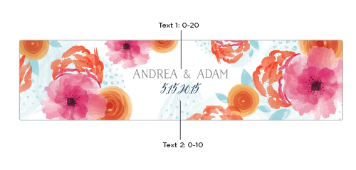 Personalized Water Bottle Labels: Botanical