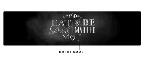 Personalized Water Bottle Labels: Eat, Drink & Be Married