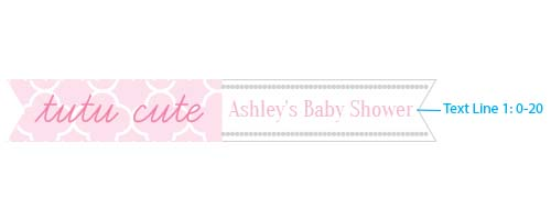Personalized Party Straw Flags: Tutu Cute