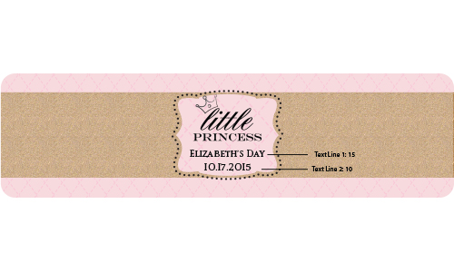 Personalized Water Bottle Labels: Little Princess