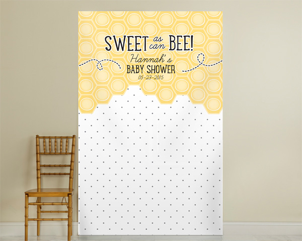 Kate's, Sweet as can Bee, Pin Dot Personalized Photo Backdrop