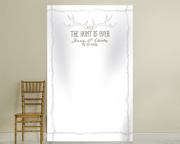 Personalized Photo Backdrop: The Hunt Is Over