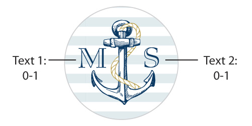 Personalized Travel Candle: Kate's Nautical Wedding Collection