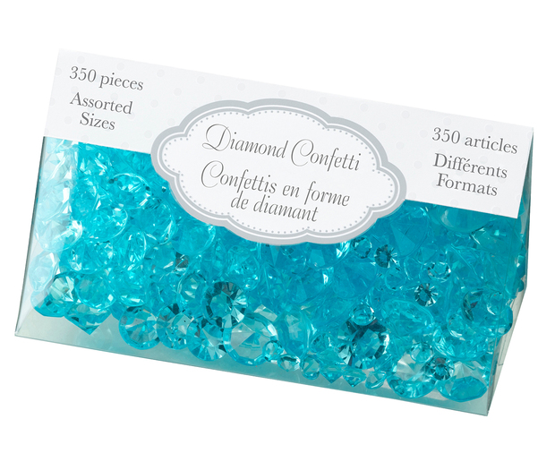 Lillian Rose Diamond Confetti - Aqua