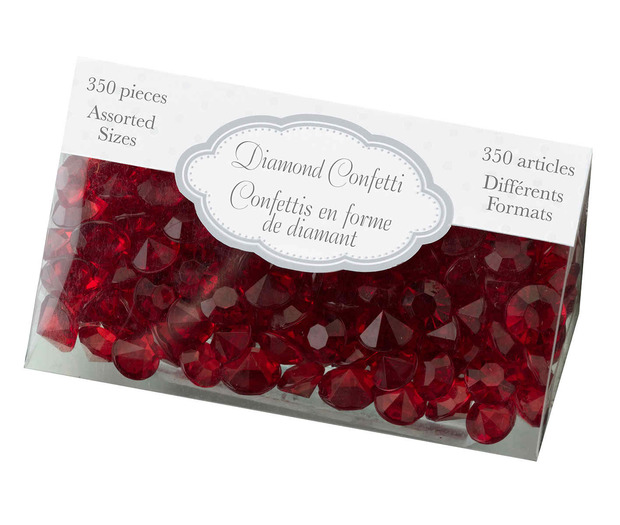 Lillian Rose Diamond Confetti - Red