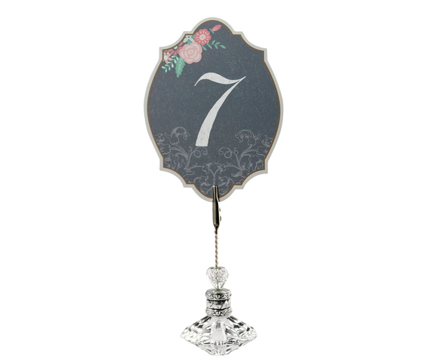Lillian Rose Black and Pink Table Numbers: 1-24