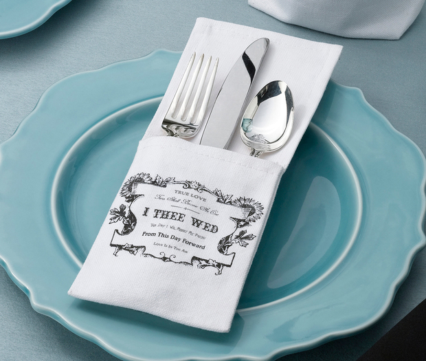 Lillian Rose Set of 4 True Love Silverware Holders
