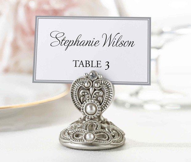 Lillian Rose Set of 4 Jeweled Place Card Holders