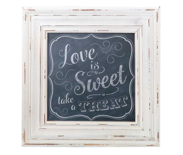Lillian Rose Love Is Sweet Square Framed Sign