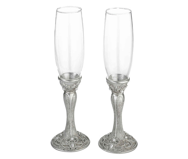 Lillian Rose Set of 2 Regal Elegance Glasses