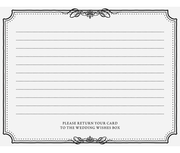 Lillian Rose Wishes Cards Black: Set of 48
