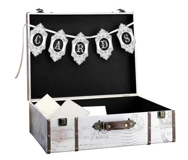 Lillian Rose True Love Suitcase Card Box - Dark Tones