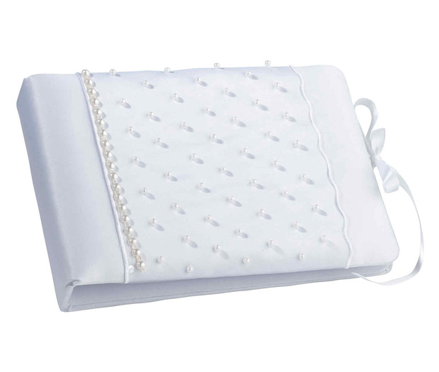 Lillian Rose Scattered Pearl Guest book-White