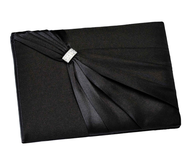 Lillian Rose Satin Sash Guest Book-Black
