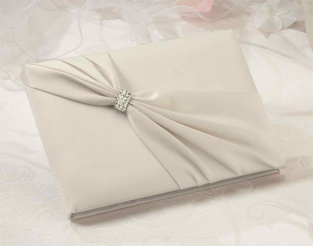 Lillian Rose Satin Sash Guest Book-Red