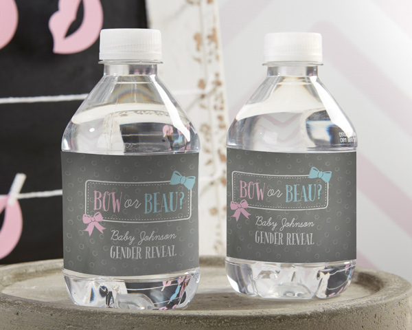 Personalized Water Bottle Labels-Kate's Gender Reveal Collection