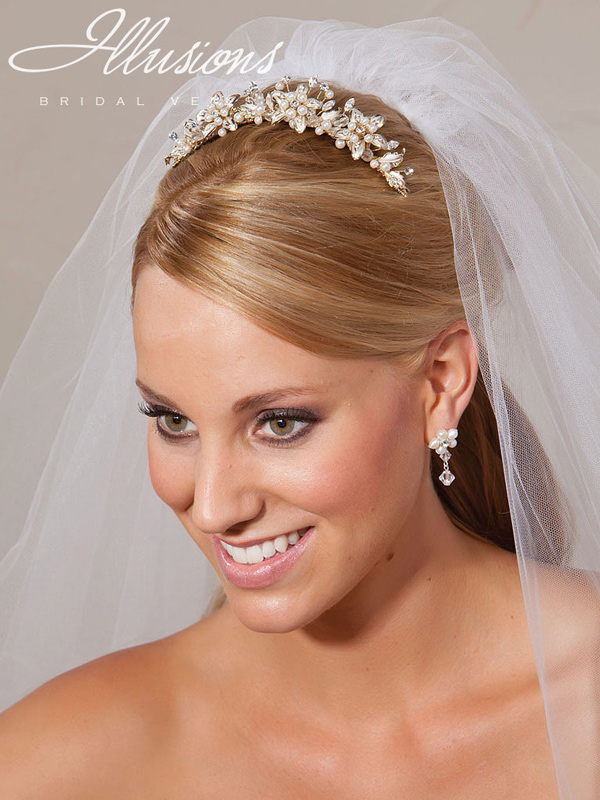Illusions Bridal Tiara 2734: Gold