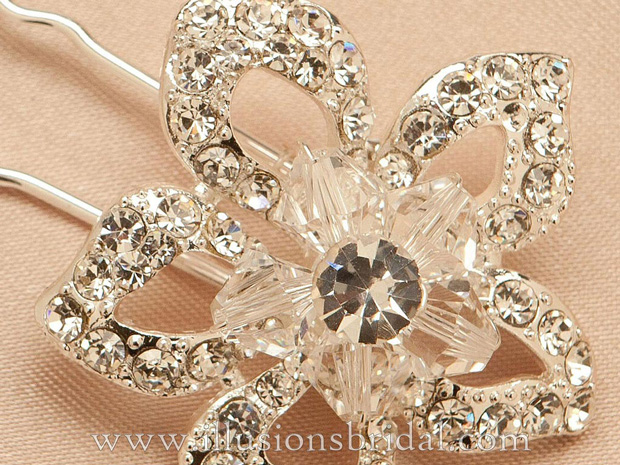 Illusions Bridal Hair Accessories 3292: Silver