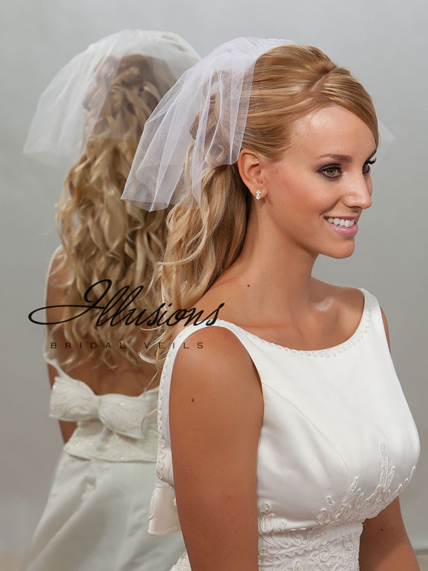 Illusions Bridal Cut Edge Veil 5-101-CT: Pearl Accent