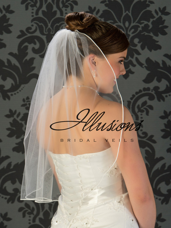 Illusions Bridal Soutac Edge Veil 5-251-ST: Pearl Accent