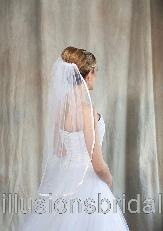 Illusions Bridal Colored Veils and Edges 5-301-3R-BP