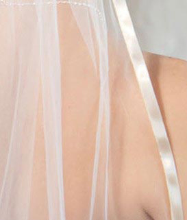 Illusions Bridal Colored Veils and Edges 5-301-3R-O-O: Oyster