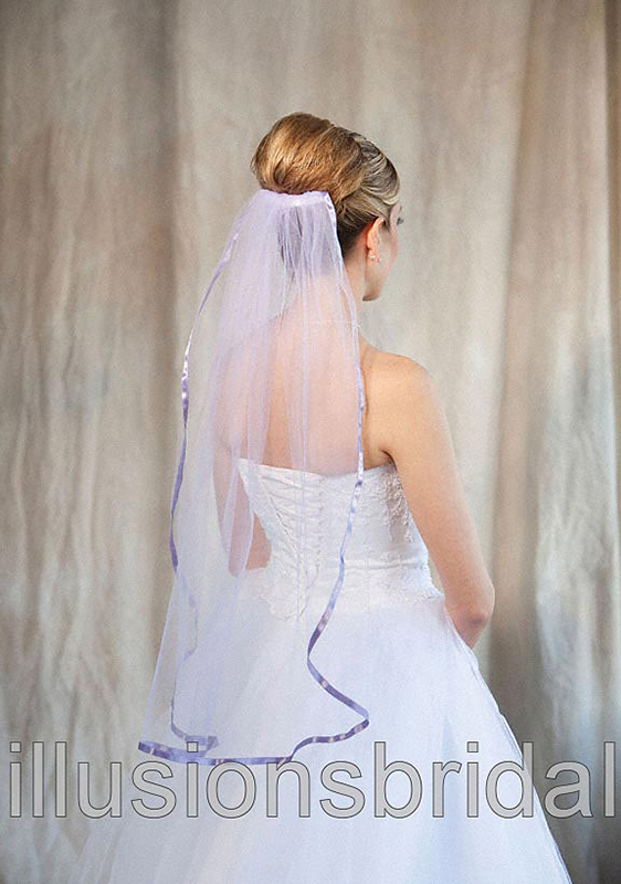 Illusions Bridal Colored Veils and Edges 5-301-3R-VL-VL