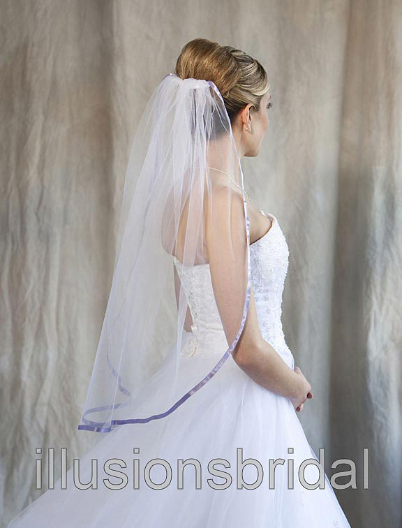 Illusions Bridal Colored Veils and Edges 5-301-3R-VL