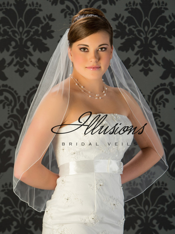 Illusions Bridal Corded Edge Veil 5-301-C