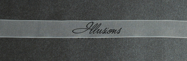 Illusions Bridal Ribbon Edge Veil 5-301-SR: Rhinestone Accent