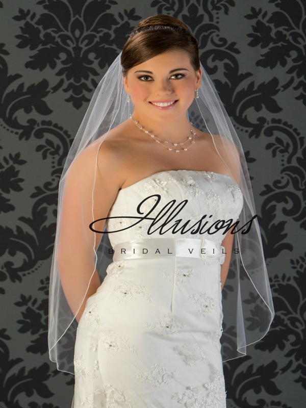 Illusions Bridal Corded Edge Veil 5-361-C