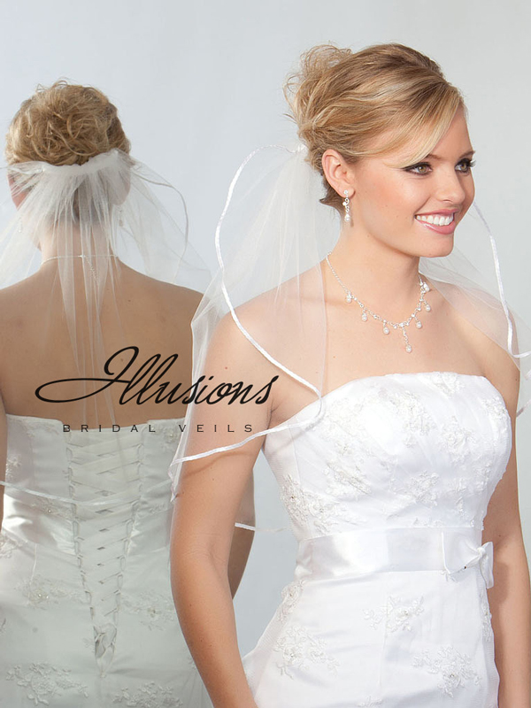 Illusions Bridal Ribbon Edge Veil 7-201-1R