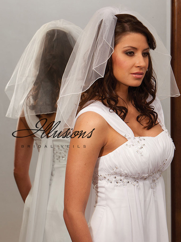 Illusions Bridal Corded Edge Veil 7-201-C