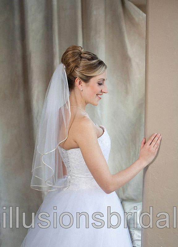 Illusions Bridal Colored Veils and Edges 7-251-RT-BG