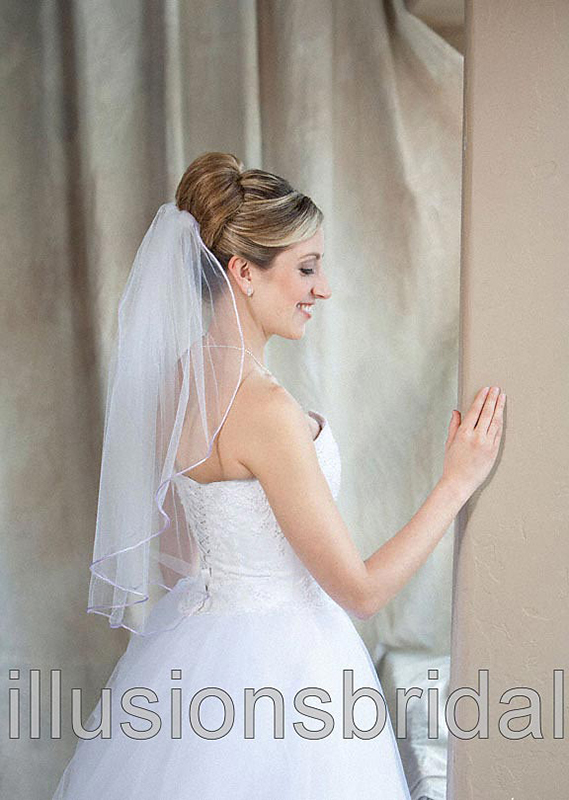 Illusions Bridal Colored Veils and Edges 7-251-RT-LV
