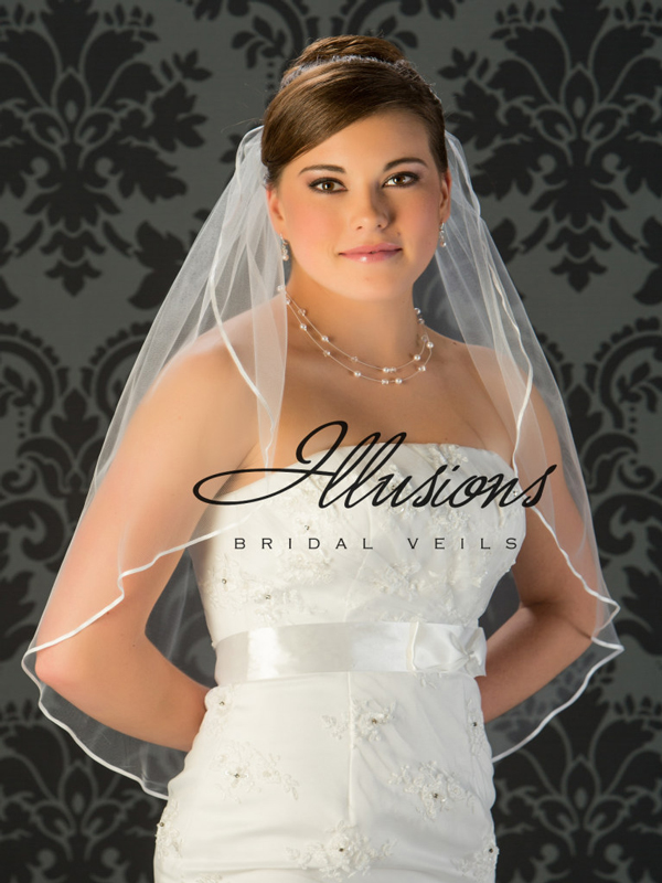 Illusions Bridal Ribbon Edge Veil 7-301-1R