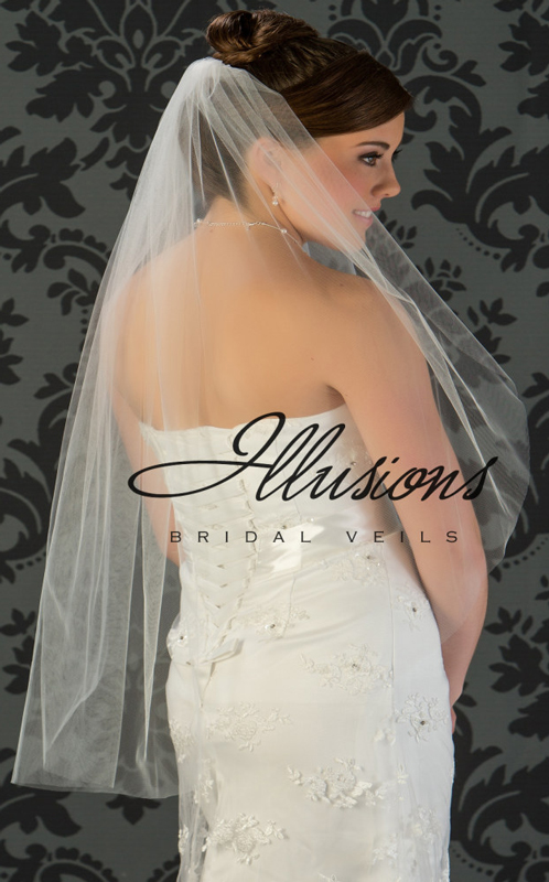 Illusions Bridal Cut Edge Veil 7-361-CT
